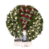 Circle funeral wreath #01