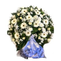 Circle funeral wreath #02