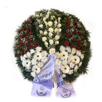Circle funeral wreath #03