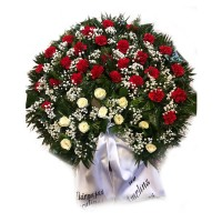 Circle funeral wreath #04