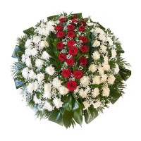 Circle funeral wreath #05