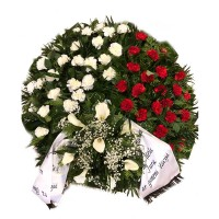 Circle funeral wreath #06