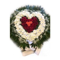 Circle funeral wreath #08