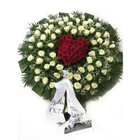 Circle funeral wreath #09