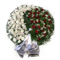 Circle funeral wreath #10