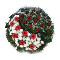 Circle funeral wreath #11