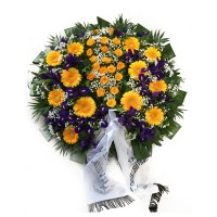 Circle funeral wreath #12