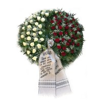 Circle funeral wreath #15