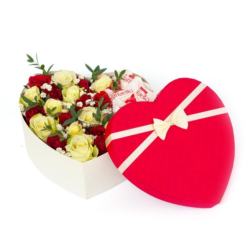 Flowers box with candies #01