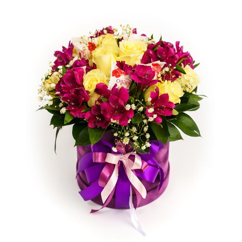 Flowers box with candies #04